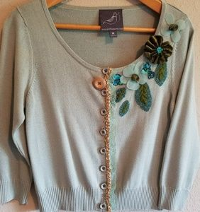 Anthro NWOT Knitted Dove Sweater